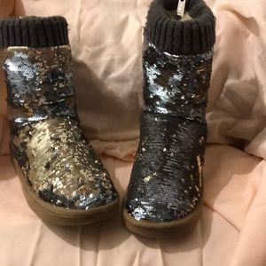 Rare PINK VS sequined boots sz 7-8 from 2012